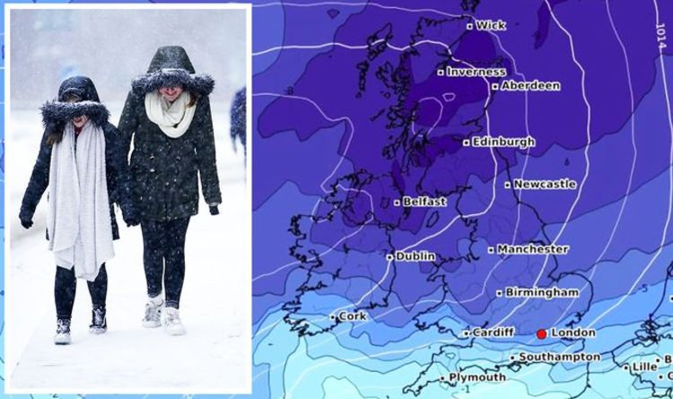 UK cold weather forecast: Get ready! -10C FREEZE to grip Britain – new maps turn icy blue | Weather | News