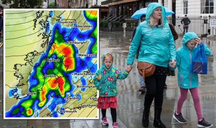 UK weather: Atlantic systems to drench Britain in TWO INCHES of rain in weekend washout | Weather | News