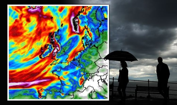UK weather forecast: Horror chart shows UK battered by SEVEN days of rain - map | Weather | News