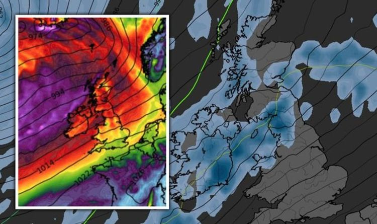UK weather latest: 60mph storm heads for Britain - maps turn PURPLE as savage floods loom | Weather | News